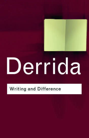 Writing and Difference book cover