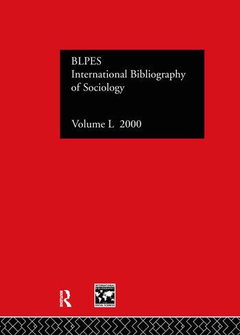 IBSS: Sociology: 2000 Vol.50 book cover