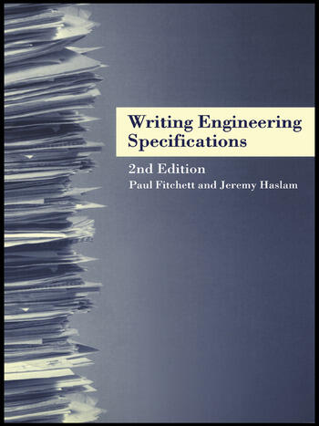 Writing Engineering Specifications book cover