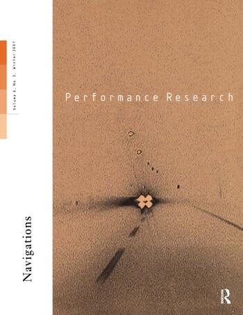 Performance Research V6 Issu 3 book cover