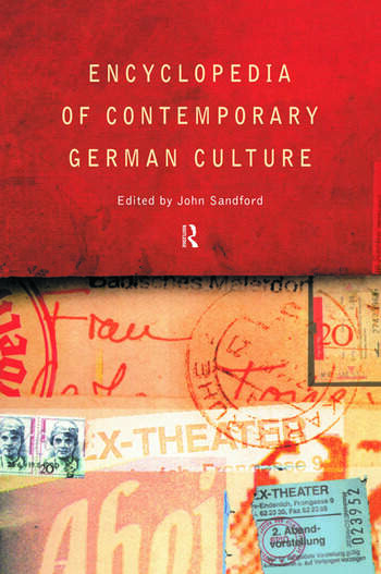 Encyclopedia of Contemporary German Culture book cover