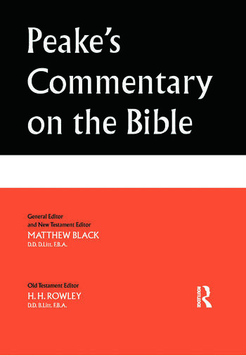 Peake's Commentary on the Bible book cover