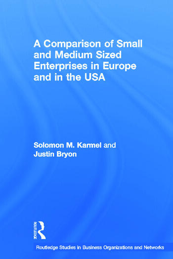 A Comparison of Small and Medium Sized Enterprises in Europe and in the USA book cover