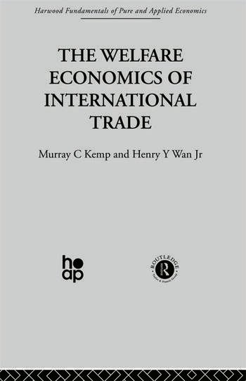 The Welfare Economics of International Trade book cover