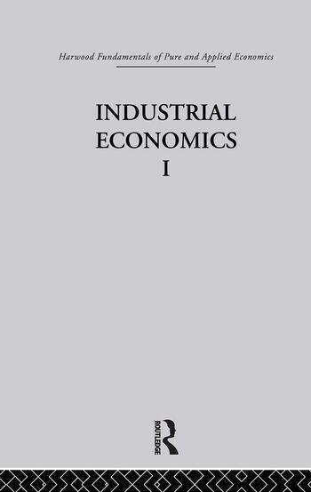 C: Industrial Economics I book cover