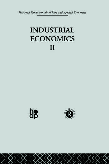 D: Industrial Economics II book cover