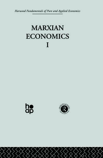 U: Marxian Economics I book cover