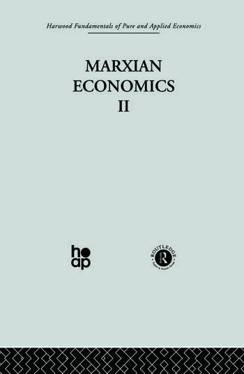 V: Marxian Economics II book cover