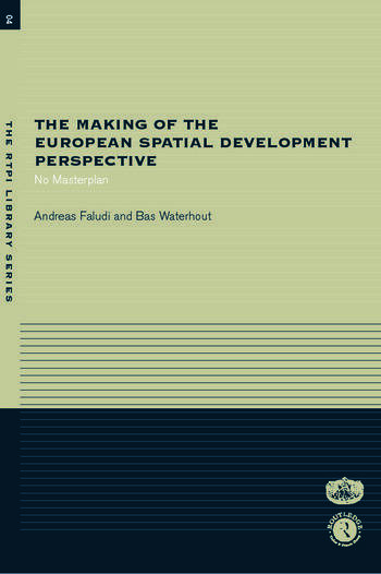 The Making of the European Spatial Development Perspective No Masterplan book cover