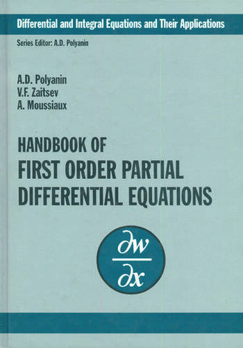 Handbook of First-Order Partial Differential Equations book cover