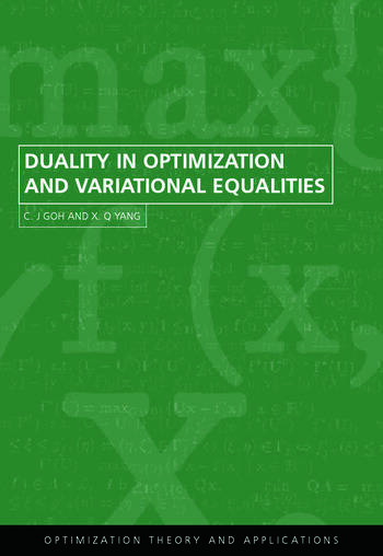 Duality in Optimization and Variational Inequalities book cover