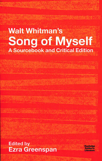 Walt Whitman's Song of Myself A Sourcebook and Critical Edition book cover