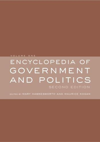 Encyclopedia of Government and Politics 2-volume set book cover