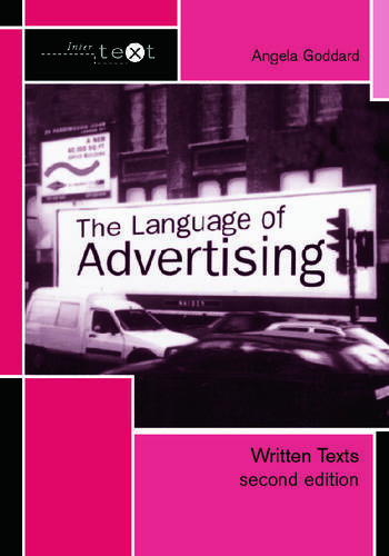 The Language of Advertising Written Texts book cover