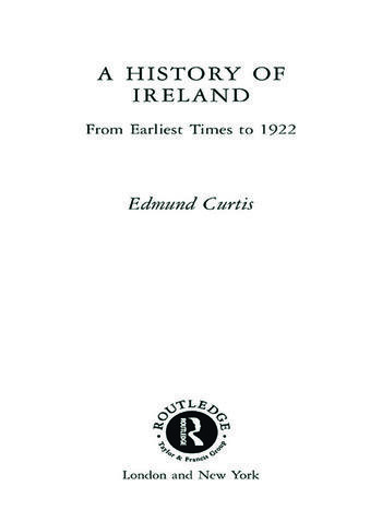 A History of Ireland From the Earliest Times to 1922 book cover
