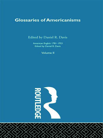 Glossaries Of Americanisms V book cover
