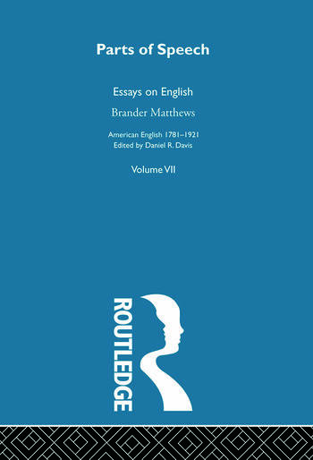 Parts Of Speech:Essays English book cover