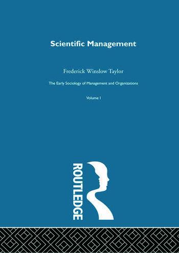 Scientific Management book cover