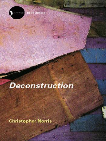 Deconstruction Theory and Practice book cover