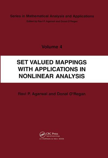 Set Valued Mappings with Applications in Nonlinear Analysis book cover