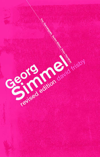 Georg Simmel book cover