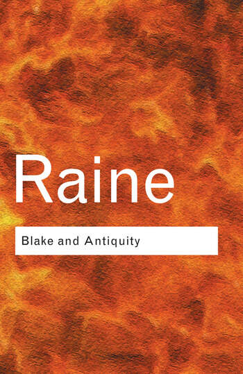 Blake and Antiquity book cover