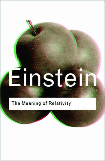 The Meaning of Relativity book cover