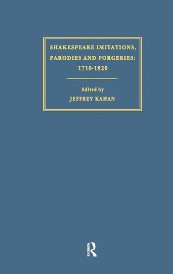 Shakespeare Imitations, Parodies and Forgeries book cover