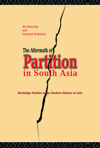 The Aftermath of Partition in South Asia book cover