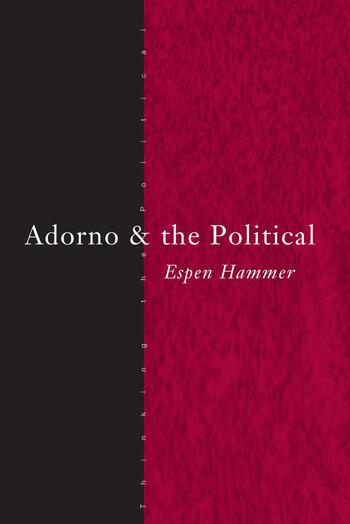 Adorno and the Political book cover