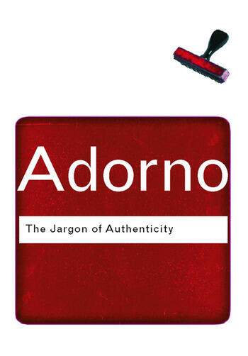 The Jargon of Authenticity book cover