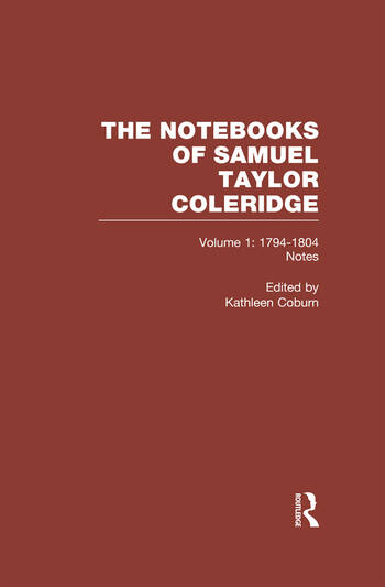 Coleridge Notebooks V1 Notes book cover
