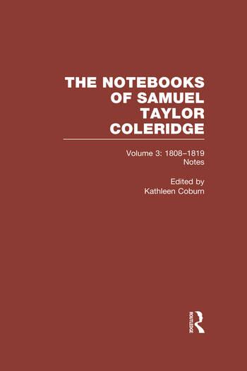 Coleridge Notebooks V3 Notes book cover