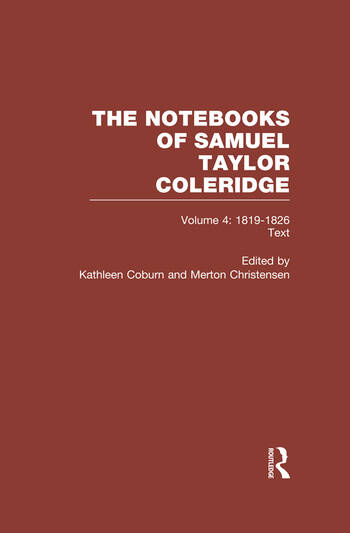 Coleridge Notebooks V4 Text book cover