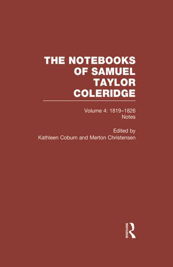 Coleridge Notebooks V4 Notes book cover