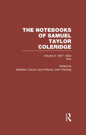Coleridge Notebooks V5 Text book cover