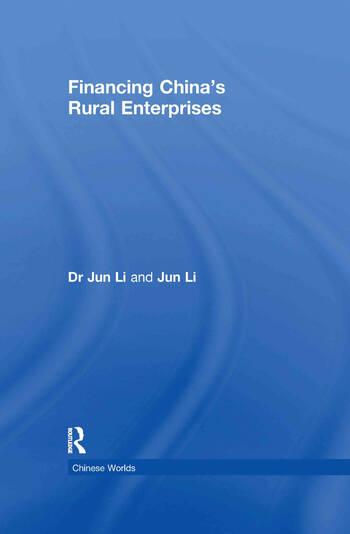 Financing China's Rural Enterprises book cover