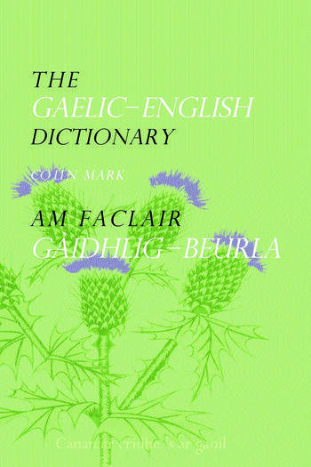 The Gaelic-English Dictionary book cover