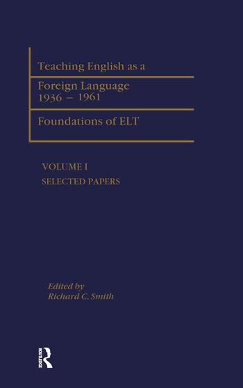 Teaching English as a Foreign Language, 1936-1961 Foundations of ELT book cover