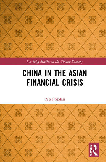 China in the Asian Financial Crisis book cover