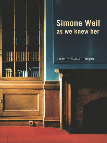 Simone Weil as we knew her book cover