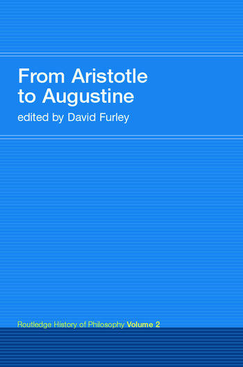 From Aristotle to Augustine Routledge History of Philosophy Volume 2 book cover