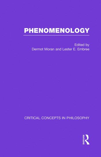 Phenomenology:Crit Con In Phil book cover