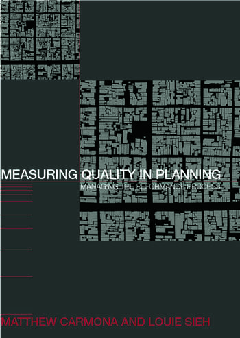 Measuring Quality in Planning Managing the Performance Process book cover
