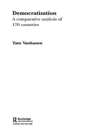 Democratization A Comparative Analysis of 170 Countries book cover