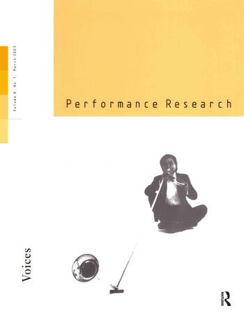 Performance Research V8 Issu 1 book cover