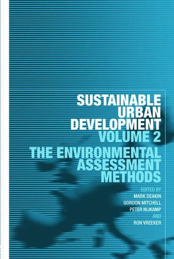 Sustainable Urban Development Volume 2 The Environmental Assessment Methods book cover