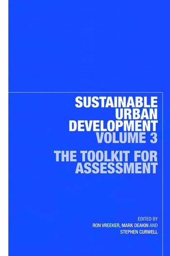 Sustainable Urban Development Volume 3 The Toolkit for Assessment book cover