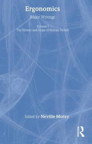 Ergonomics Mw Vol 1: Hist&Scop book cover