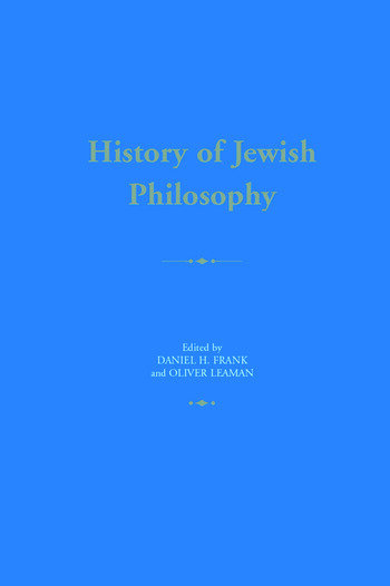 History of Jewish Philosophy book cover